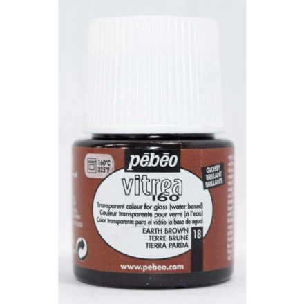 Glass Paint Pebeo Vitrail 160 - Earth Brown